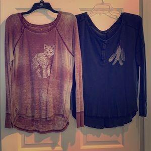 BUNDLE set of 2 American eagle long sleeve shirts